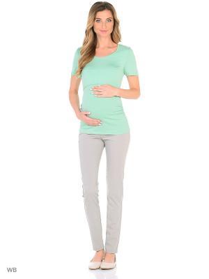 Футболка для беременных и кормления Nuova Vita. Цвет: салатовый