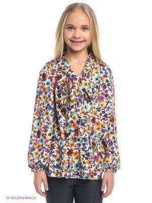Блузка Gioia di Mamma. Цвет: белый, фиолетовый, розовый, желтый