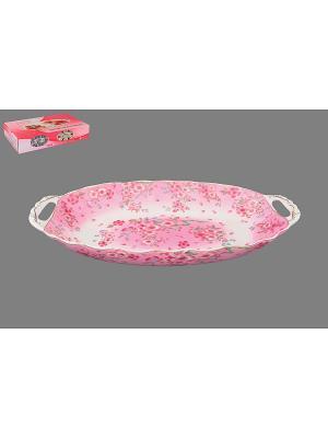 Блюдо для горячего Сакура Elan Gallery. Цвет: розовый, белый
