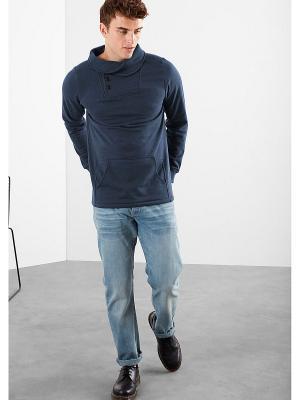 Худи S.OLIVER. Цвет: серо-голубой