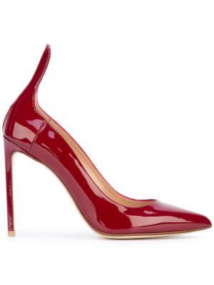 Туфли с высокой пяткой Francesco Russo. Цвет: красный