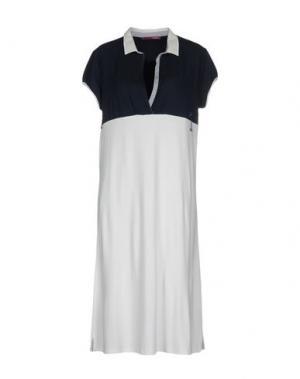 Платье до колена MILA SCHÖN CONCEPT. Цвет: белый