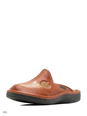 Тапочки Spesita. Цвет: коричневый, светло-коричневый