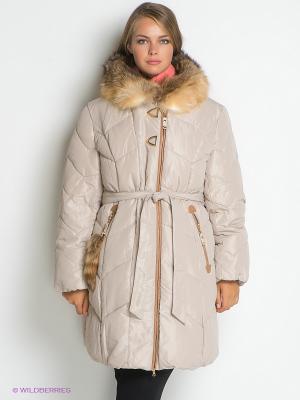 Пальто X'cluSIve. Цвет: кремовый