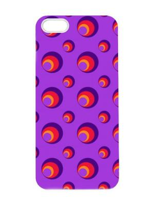 Чехол для iPhone 5/5s Фиолетово-красный принт Арт. IP5-047 Chocopony. Цвет: фиолетовый, красный