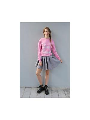 Свитшот Sleeping pink (KW1) Kawaii Factory. Цвет: розовый