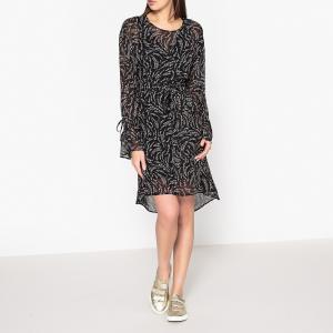 Платье с рисунком NELYA IKKS. Цвет: черный