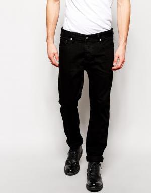 ASOS Прямые черные джинсы. Цвет: черный