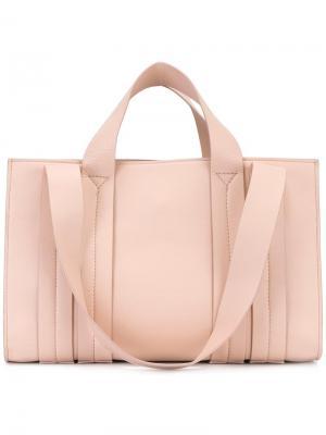 Средняя сумка-тоут Costanza Beach Club Corto Moltedo. Цвет: розовый и фиолетовый