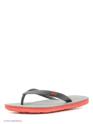 Шлепанцы SOLARSOFT THONG II Nike. Цвет: черный, коралловый