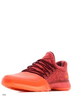 Кроссовки муж. Harden Vol. 1 SCARLE/ENERGY/CBURGU Adidas. Цвет: красный, оранжевый