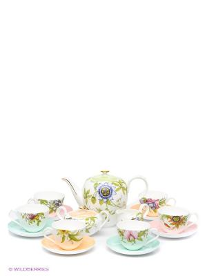 Чайный сервиз Сады Примадонны Pavone. Цвет: белый, зеленый