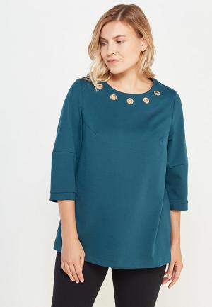 Блуза Lina. Цвет: бирюзовый