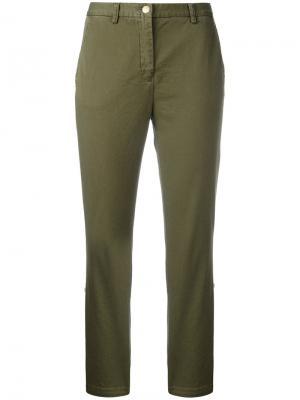 Укороченные брюки History Repeats. Цвет: зелёный