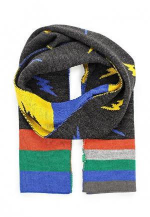 Шарф United Colors of Benetton. Цвет: серый