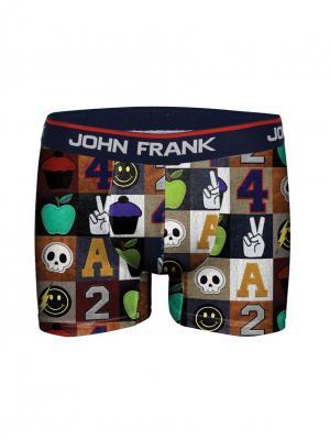 Боксеры мужские JOHN FRANK. Цвет: синий, коричневый
