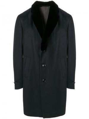 Однобортное пальто Ermenegildo Zegna. Цвет: чёрный