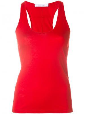 Топ Givenchy. Цвет: красный