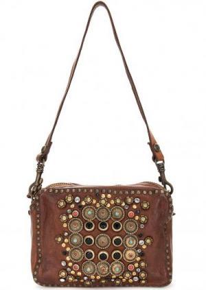 Кожаная сумка с одним отделом Campomaggi. Цвет: коричневый