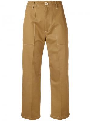 Укороченные брюки Golden Goose Deluxe Brand. Цвет: телесный