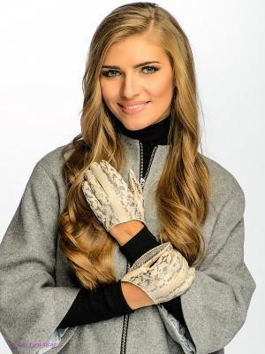 Перчатки Dali Exclusive. Цвет: серый, бледно-розовый, кремовый