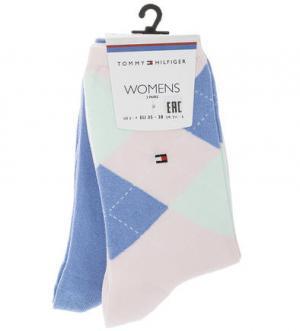 Комплект из двух пар хлопковых носков Tommy Hilfiger. Цвет: синий