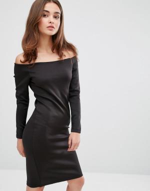 This Is Welcome Платье с открытыми плечами Freedom. Цвет: черный