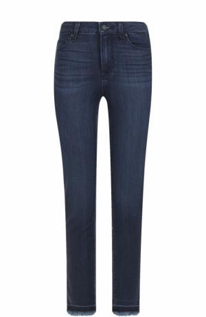 Укороченные джинсы-скинни с необработанным краем Paige. Цвет: синий