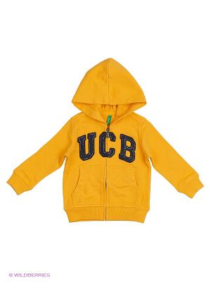 Толстовка United Colors of Benetton. Цвет: желтый