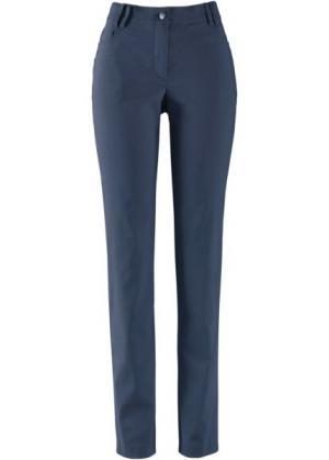 Узкие брюки из бенгалина с пятью карманами (темно-синий) bonprix. Цвет: темно-синий