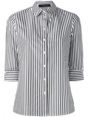 Рубашка в полоску Federica Tosi. Цвет: чёрный