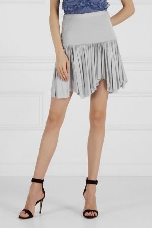 Однотонная юбка J. Mendel. Цвет: серый