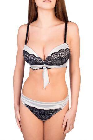 Бюстгальтер пуш-ап Very Victoria Silvstedt swimwear. Цвет: серебристо-серый