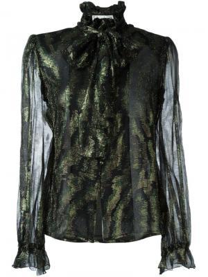 Блузка с бантом Jean Louis Scherrer Vintage. Цвет: чёрный
