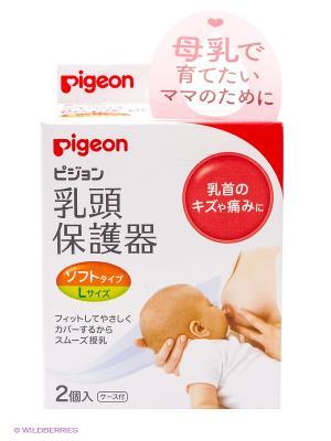 Защитные накладки на соски, размер L, 2шт PIGEON. Цвет: прозрачный