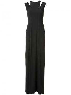 Платье с вырезом на плечах Halston Heritage. Цвет: чёрный