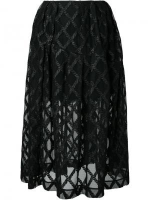 Полупрозрачная юбка Simone Rocha. Цвет: чёрный