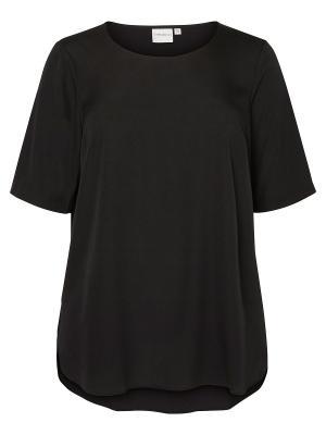 Блузка JUNAROSE. Цвет: черный