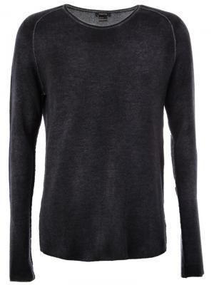 Выбеленный свитер Avant Toi. Цвет: серый