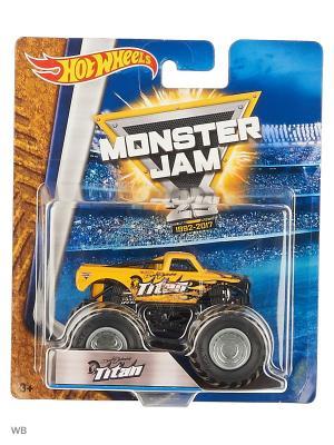 Машинки серии Monster Jam Hot Wheels. Цвет: желтый, черный, светло-желтый