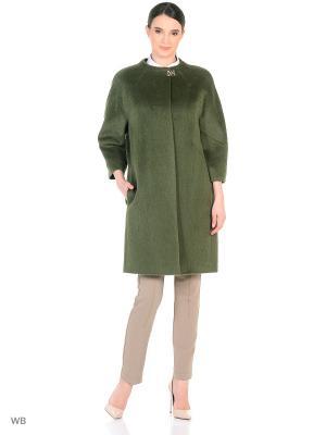 Пальто женское Lea Vinci. Цвет: оливковый