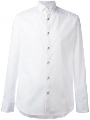 Рубашка с пуговицами-черепами Philipp Plein. Цвет: белый
