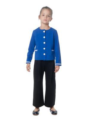 Жакет, LUDMILA LABKOVA Kids. Цвет: голубой