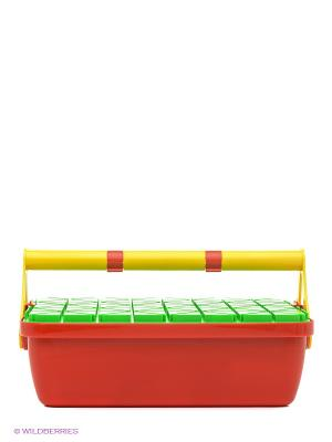 Конструктор Джеовилла 60 деталей Quercetti. Цвет: желтый, зеленый, красный