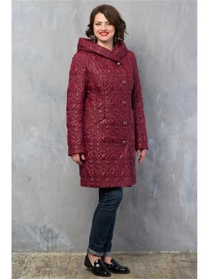 Стеганое пальто Brillare. Цвет: бордовый