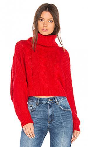Укороченный свитер hobie BB Dakota. Цвет: красный