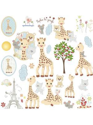 Наклейки для декора - Жираф Софи ROOMMATES. Цвет: белый, черный, синий, зеленый, серый, голубой, красный, оранжевый, желтый