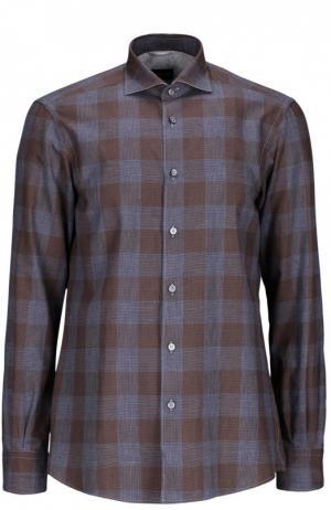 Рубашка Ermenegildo Zegna. Цвет: коричневый