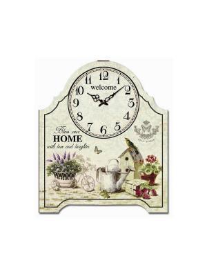 Часы настольные Королевский сад Magic Home. Цвет: белый