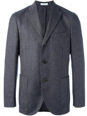 Пиджак на три пуговицы Boglioli. Цвет: синий